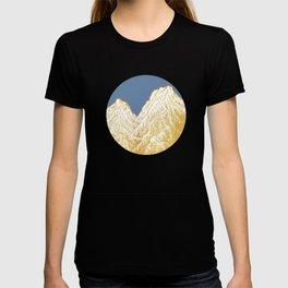 """遠望 series -""""Valley"""" in Circle - Linocut T-shirt"""