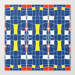 Nautical blue tiled modern plaids Canvas Print