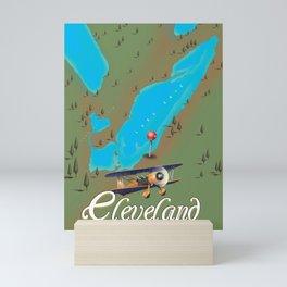 Cleveland,Ohio Travel poster art print Mini Art Print