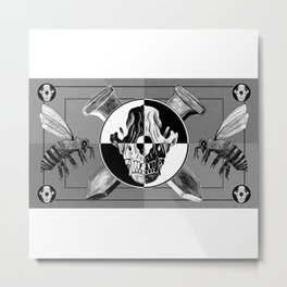 Positive and Negative Amos Fortune Test Pattern Metal Print