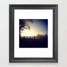 Morning on the Farm Framed Art Print