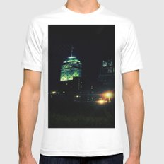 City at Night MEDIUM Mens Fitted Tee White