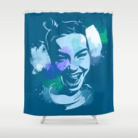 bjork Shower Curtains featuring Bjork by BIG Colours
