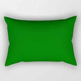 Forest Green Flat Color Rectangular Pillow