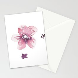 Lilac Pink Watercolour Fiordland Flower Stationery Cards