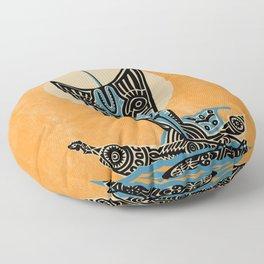 Pacific Island Sailing Floor Pillow