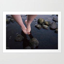 Feet in River Art Print