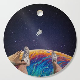 hanging out in space Cutting Board