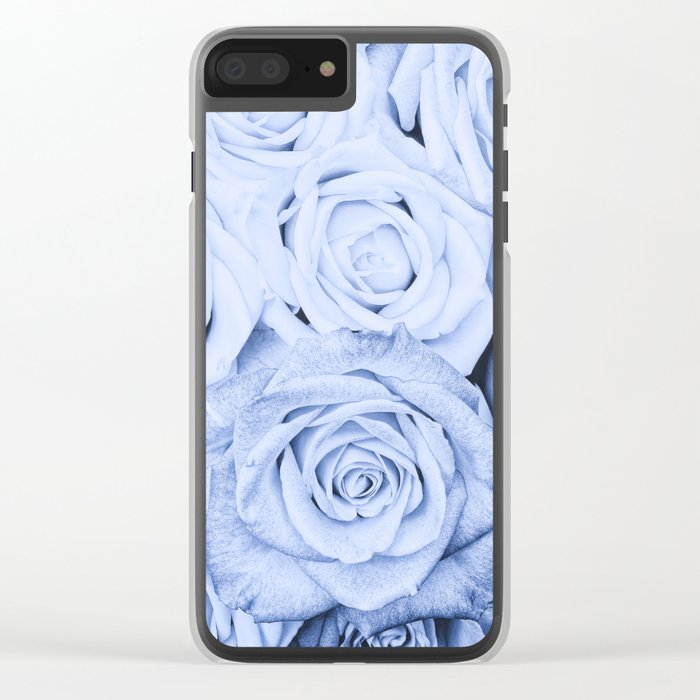 Some people grumble - Blue Rose, Floral Roses Flower Flowers Clear iPhone Case