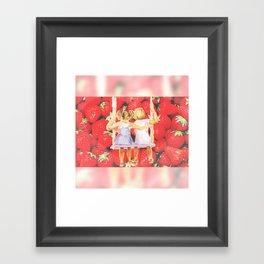 Strawberry Swing Framed Art Print