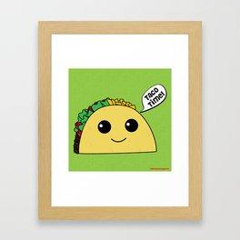 Taco Time Framed Art Print