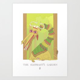 The Elephant's Garden - The Perpetual Glibb Art Print