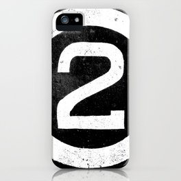 Black and White Number 2 iPhone Case