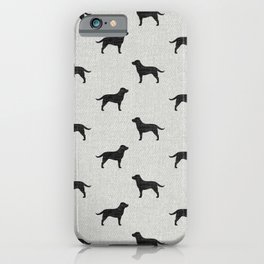Black Labrador Retriever Silhouette iPhone Case
