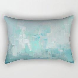 Cool Ocean Breeze Abstract Expressions Rectangular Pillow