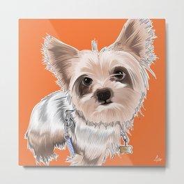 """Custom puppy illustration: """"Mija"""" Metal Print"""