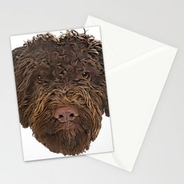 Dog Truffle Dog Italian treasure discoverer sticky beggar Stationery Cards