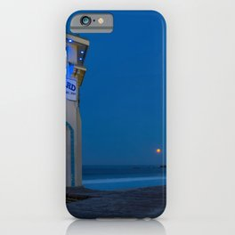 Moonset From Main Beach iPhone Case