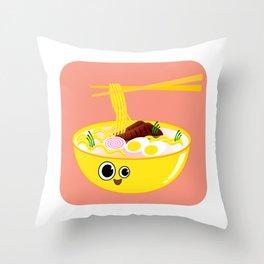 Ramen Mellow Throw Pillow