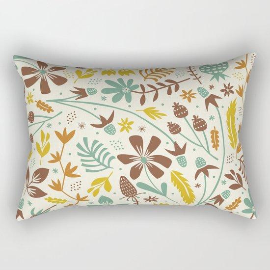 Autumn Blooms Rectangular Pillow
