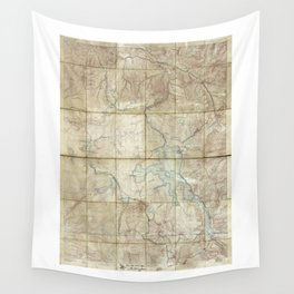 Map of Yellowstone National Park (1886) Wall Tapestry