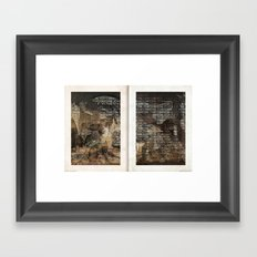 It's not a competition 03b Framed Art Print