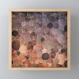 Abstract brown glamour glitter circles and dots for Girls and ladies Framed Mini Art Print