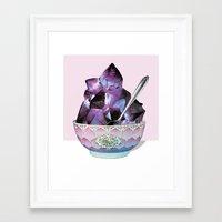 dessert Framed Art Prints featuring DESSERT by Beth Hoeckel