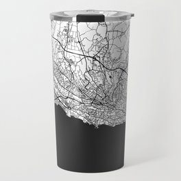 Lausanne Map Gray Travel Mug