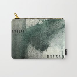 Last Kiss: a minimal, abstract watercolor piece in greens Carry-All Pouch