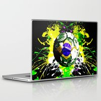 brazil Laptop & iPad Skins featuring football Brazil by seb mcnulty