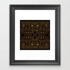 Gold ornament Framed Art Print