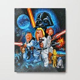 Family Guy Star Wars Parody Metal Print