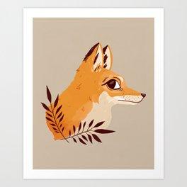Fox Familiar Art Print