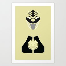 Power Rangers - White Ranger Minimalist Art Print