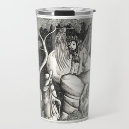 Oedipus and the sphinx Travel Mug