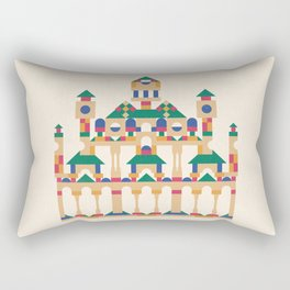 Block Façade Rectangular Pillow