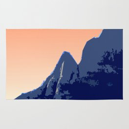 Badlands Peach Sky retro poster Rug