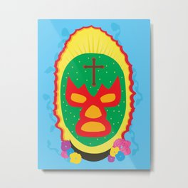 Luchador Metal Print