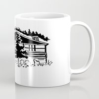 cabin Mugs featuring Family Cabin by Robert Cooper