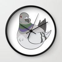 derek hale Wall Clocks featuring Derek by Birbles