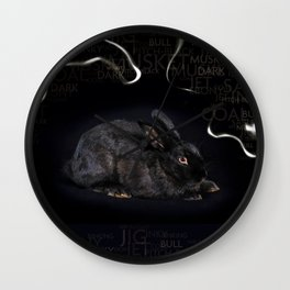 Mr Musket Rabbit Boy Wall Clock