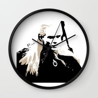 legolas Wall Clocks featuring Legolas by Cat Milchard