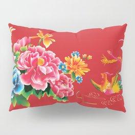 chinese peonies and phoenix Pillow Sham
