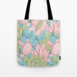 Pastel Cacti Obsession #society6 Tote Bag