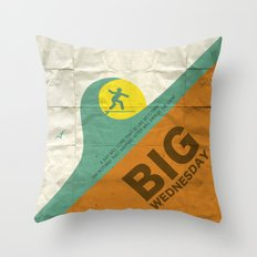 Big Wednesday Throw Pillow