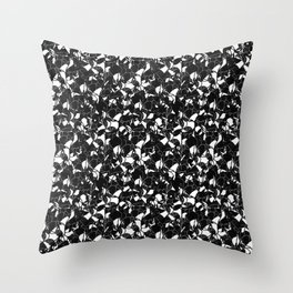 Black For The Night Throw Pillow