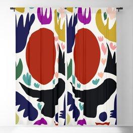 Birds in the sun minimal art abstract pattern decorative Blackout Curtain