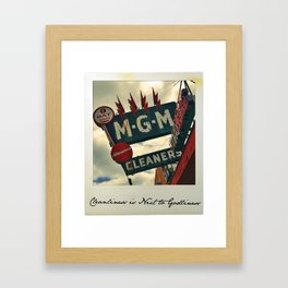 Cleanliness Is Next to Godliness Framed Art Print