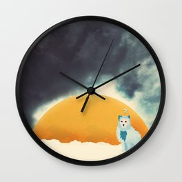 Arctic Fox Stumbles Upon A Meteorite Wall Clock